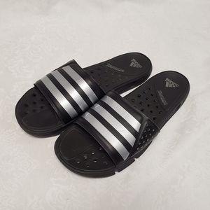 Adidas Supercloud Slides Black Silver Men's 9